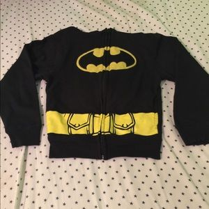 Batman Hoodie with attached cape.